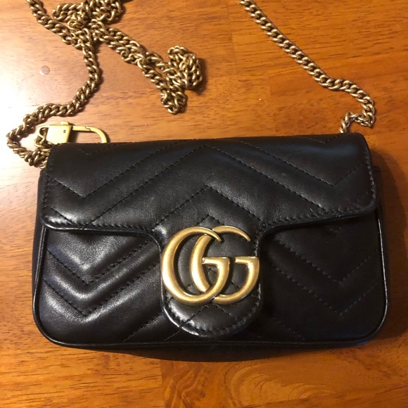 752131425 Gucci Bags | Gg Marmont Matelasse Leather Super Mini Bag | Poshmark